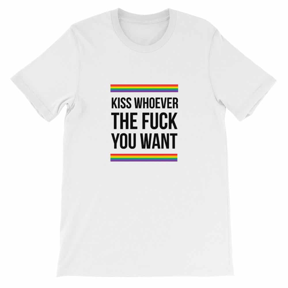 Kiss Whoever the F*ck you want T-Shirt