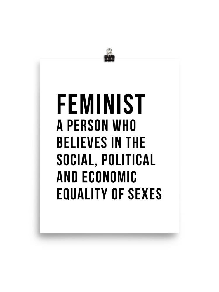 She is apparel Feminist Definition poster