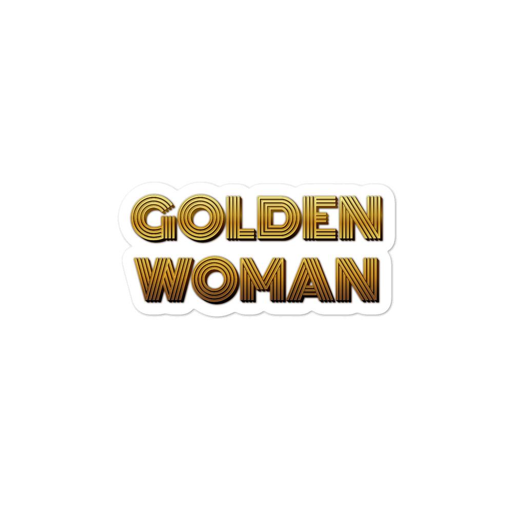 She is apparel Golden Woman sticker
