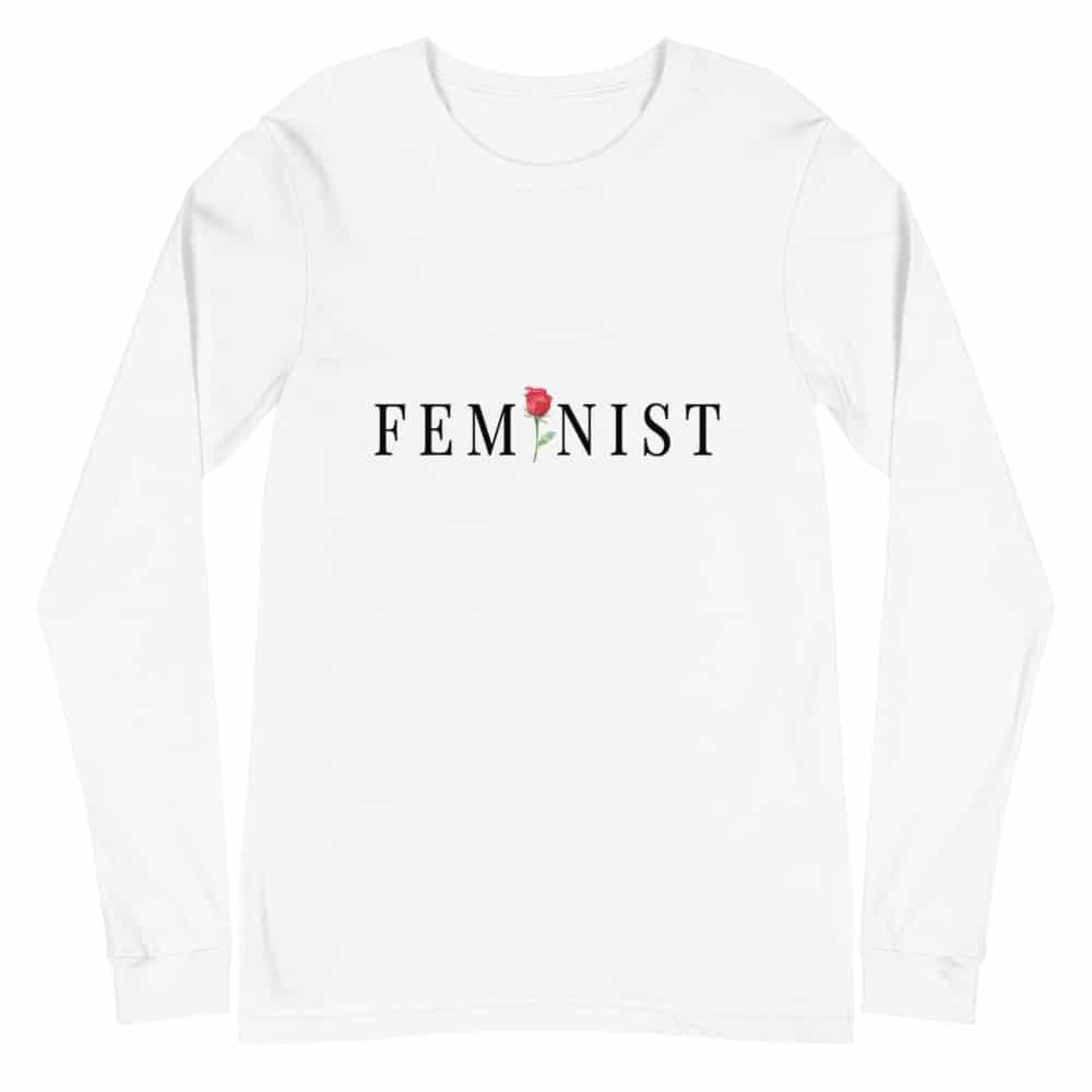 She is Apparel Feminist Rose Long Sleeve
