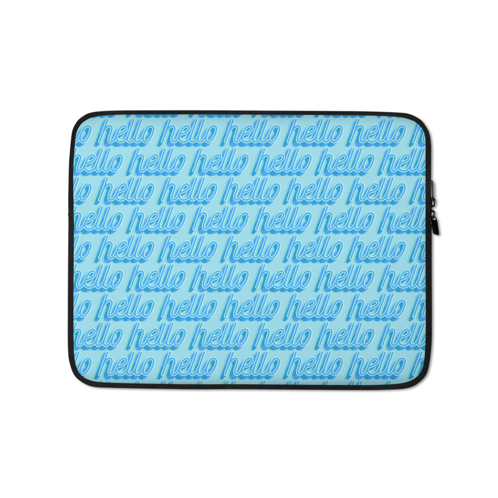she is apparel Hello laptop sleeve
