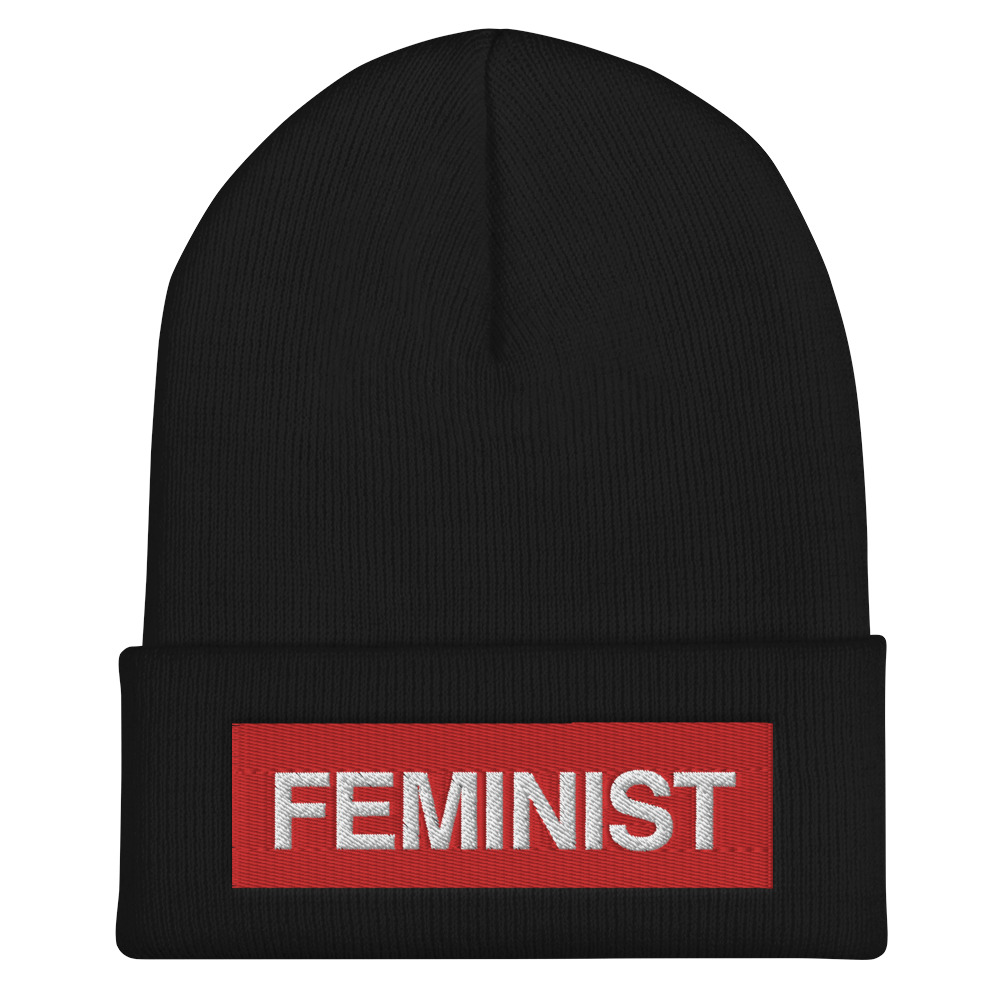 She is Apparel Feminist Beanie