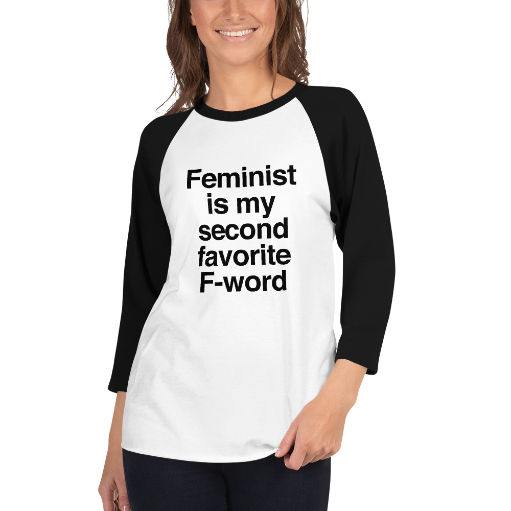 She is Apparel F-word 3/4 sleeve raglan shirt