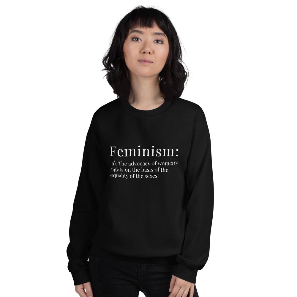 She is apparel Feminism Definition Sweatshirt