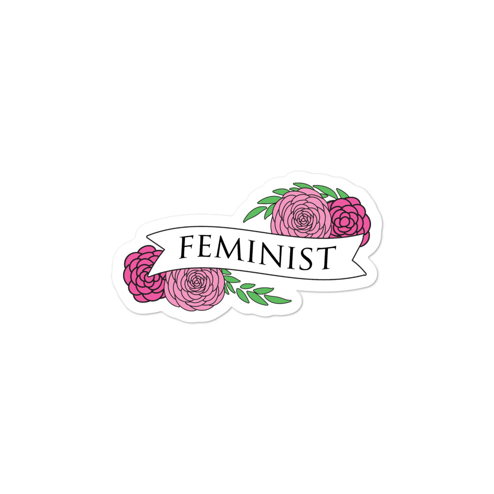 She is Apparel Feminist Sticker