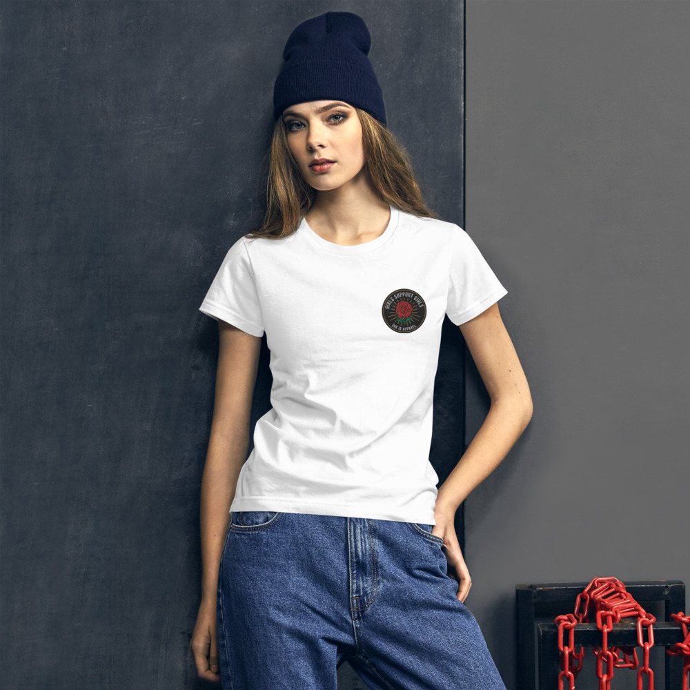 She is Apparel Rose Badge T-Shirt