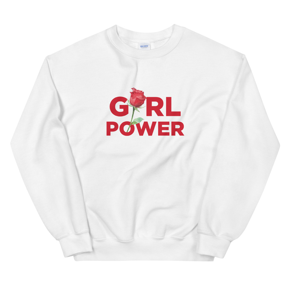 she is apparel Girl Power short sweatshirt