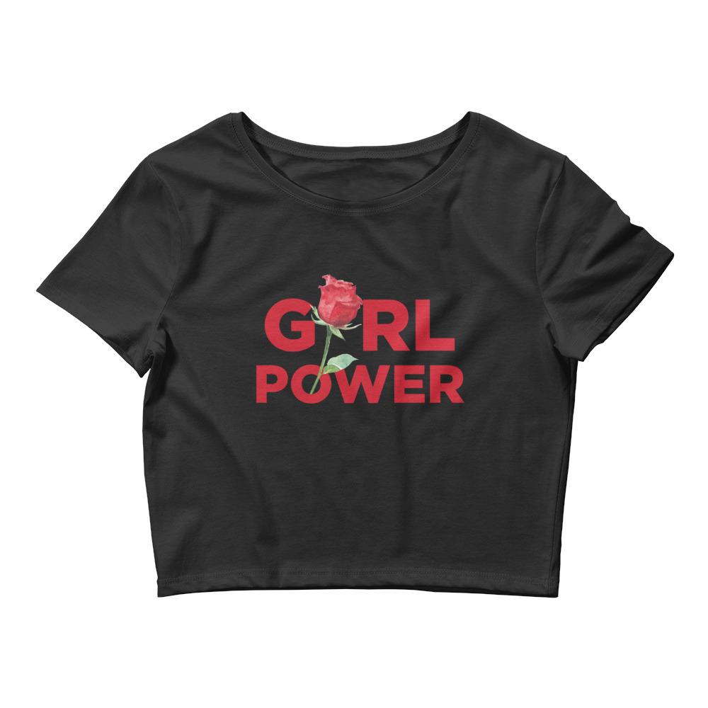 she is apparel Girl Power short crop top