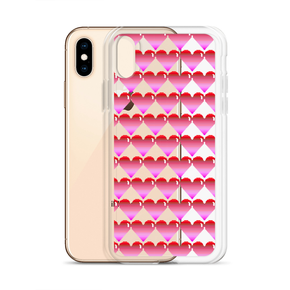 She is Apparel Pixelated Heart Iphone Case