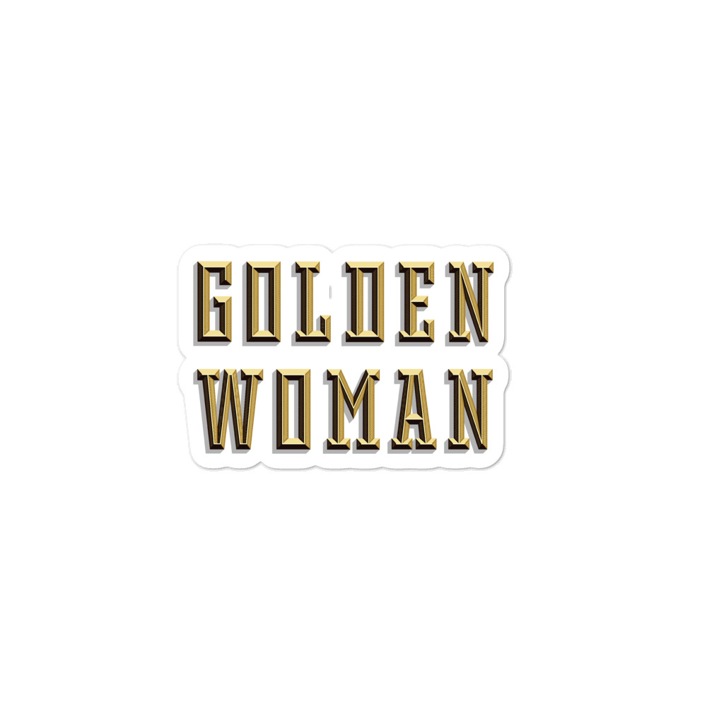 Golden Woman stickers