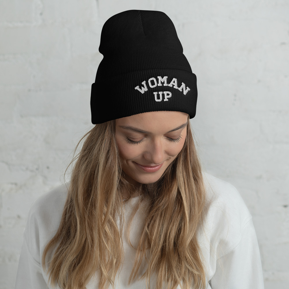 She is apparel Woman Up beanie