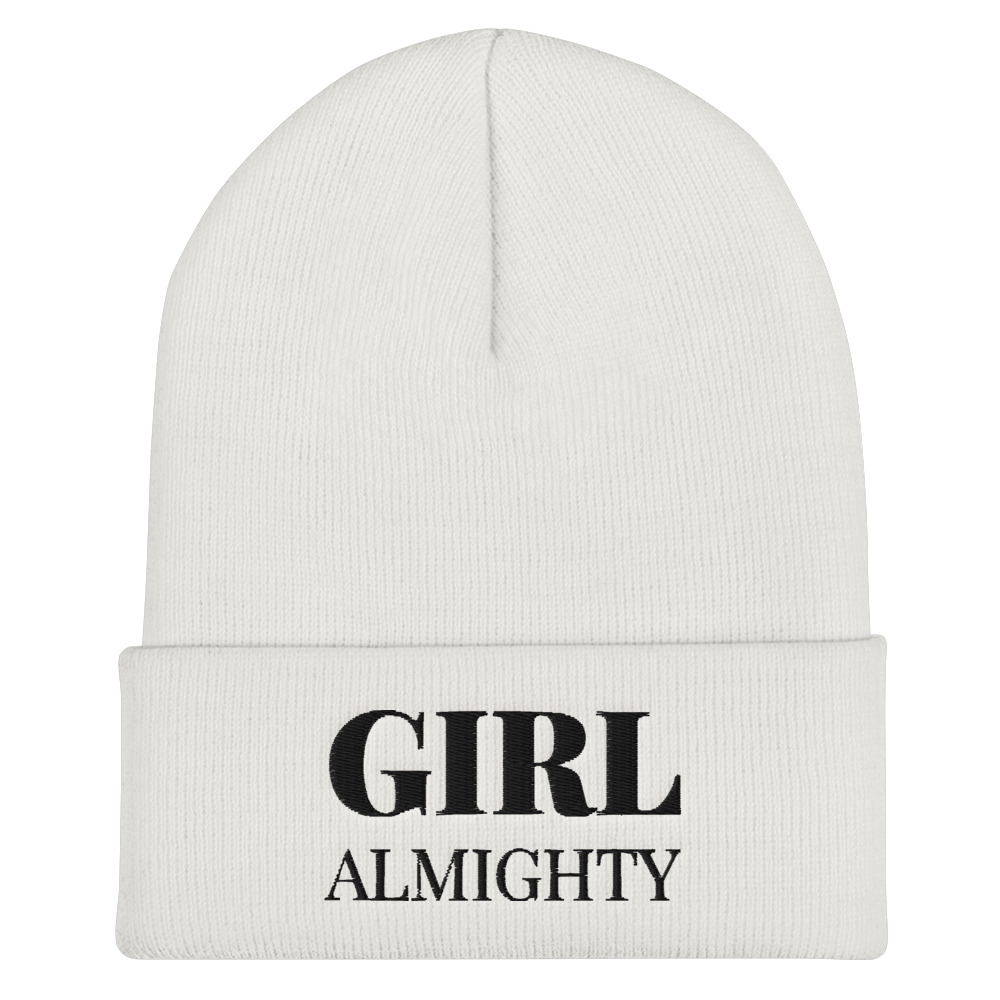 She is apparel Girl Almighty beanie