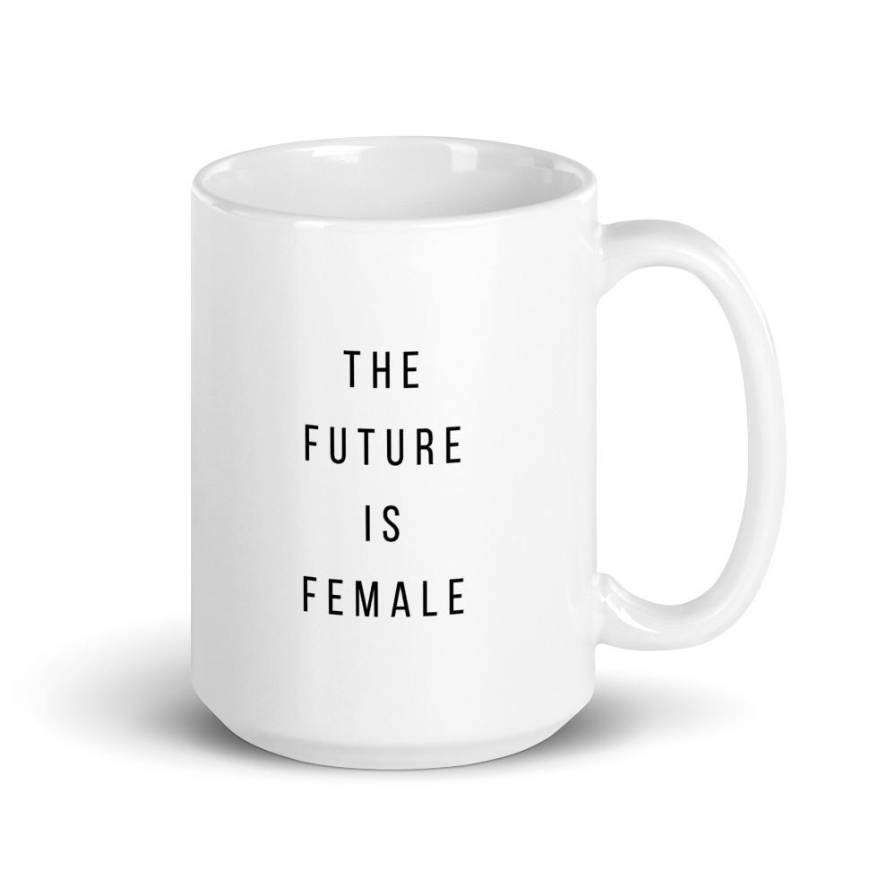 she is apparel The future is female mug