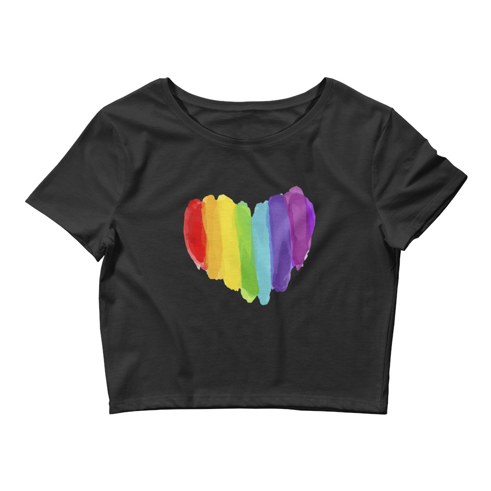 She is apparel Pride heart Crop Top