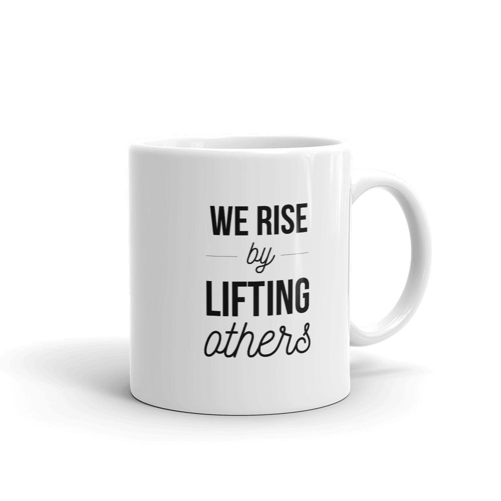 She is apparel We rise mug