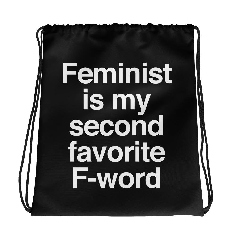 She is Apparel F-Word Drawstring bag