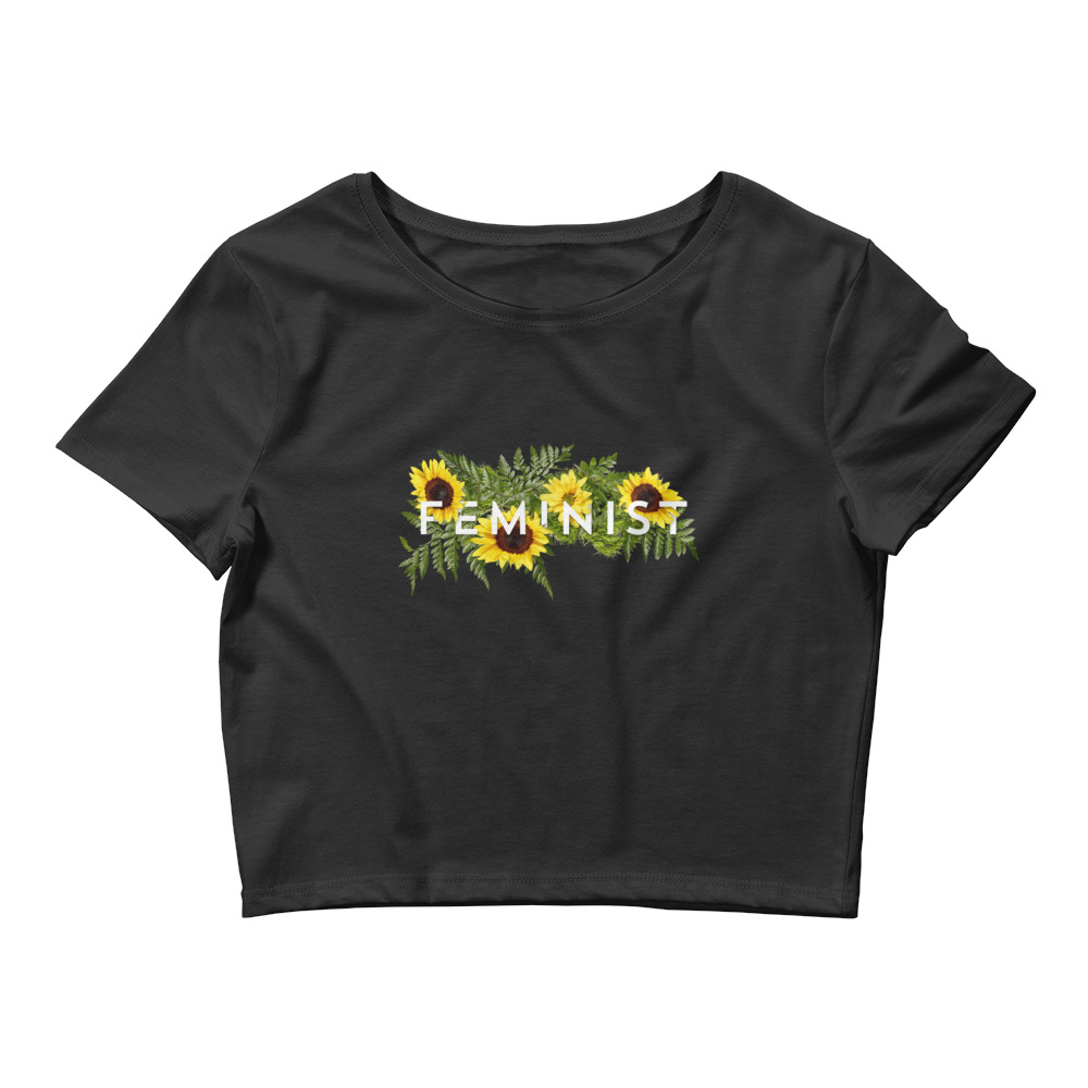 she is apparel Sunflowers crop top