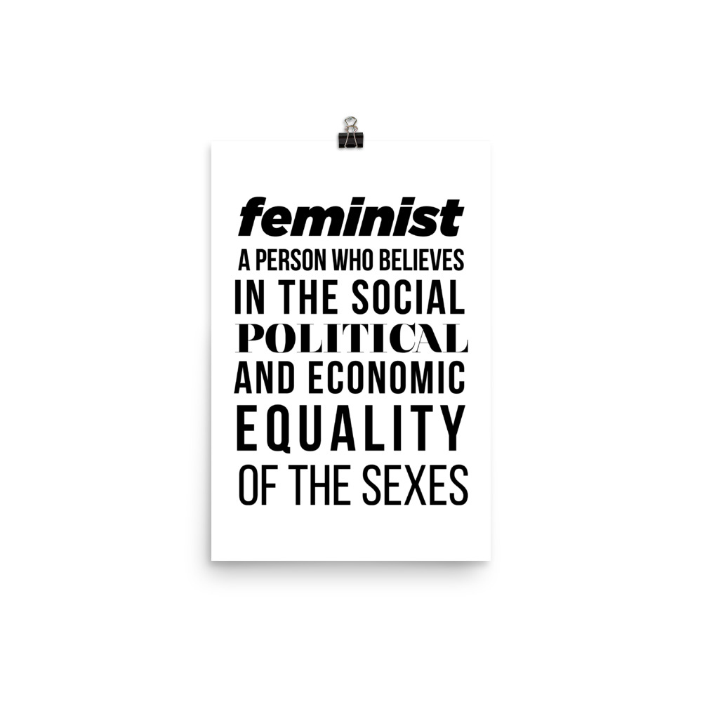 She is apparel Feminist Quote poster