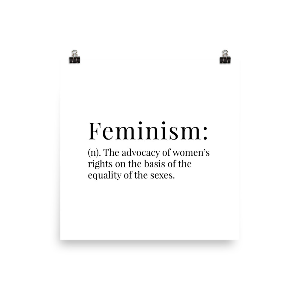 She is apparel Feminism Definition poster
