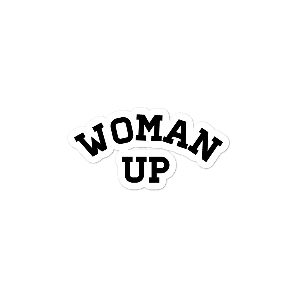 She is apparel Woman up sticker