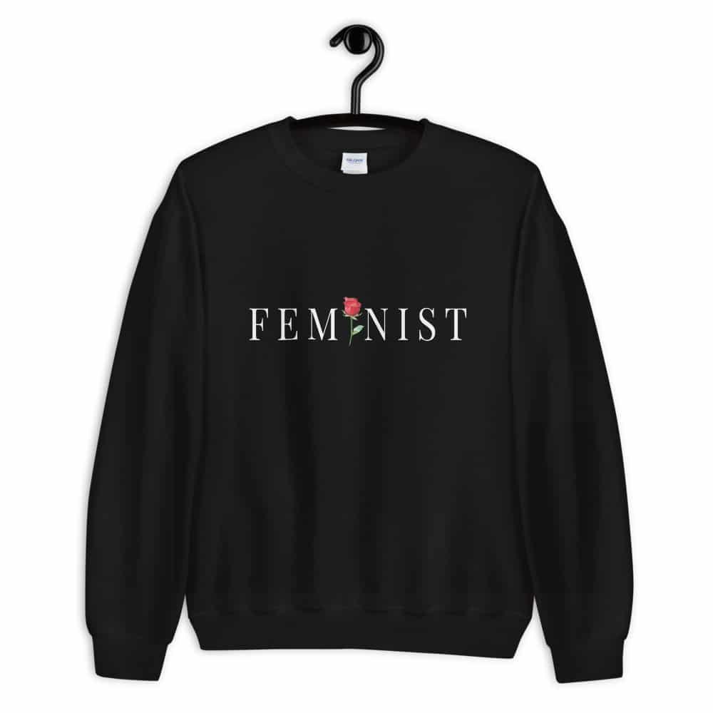 She is Apparel Feminist Rose Sweatshirt