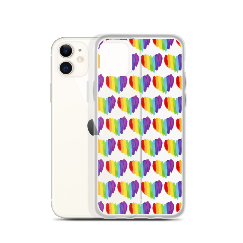 She is apparel Pride heart iPhone Case