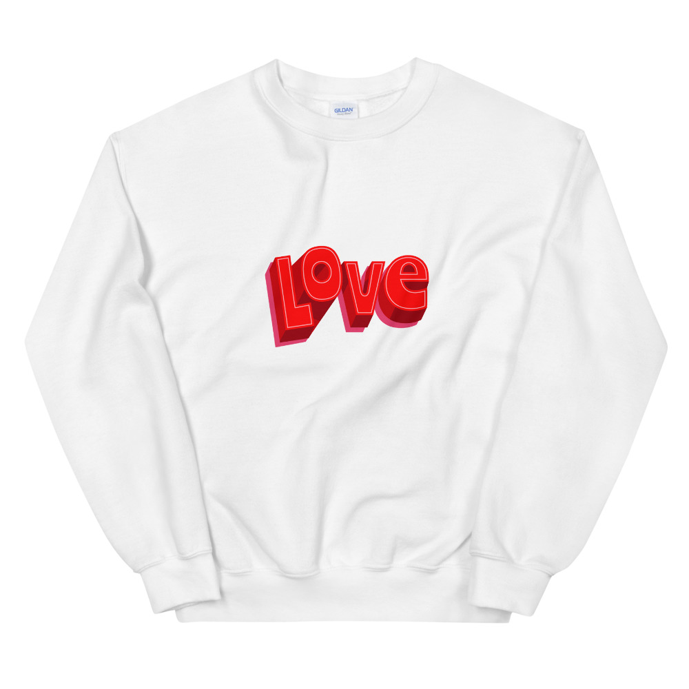 she is apparel Love Sweatshirt