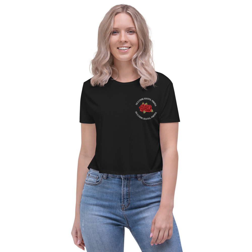 She is Apparel She is strong Crop Top