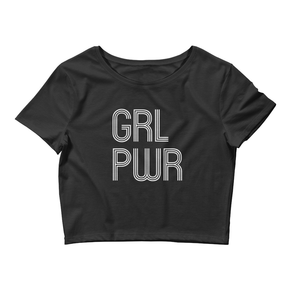 she is apparel Grl Pwr crop top