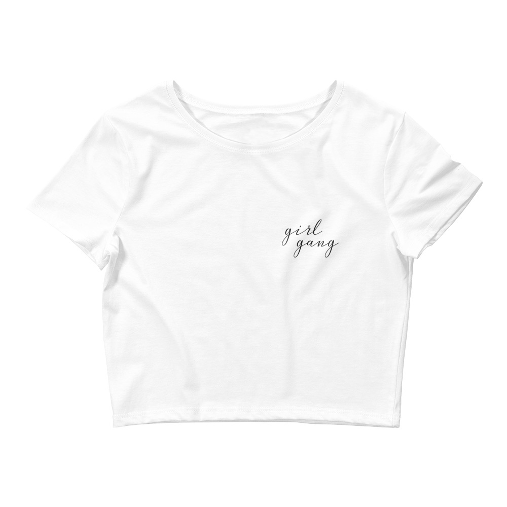 she is apparel Girl Gang crop top