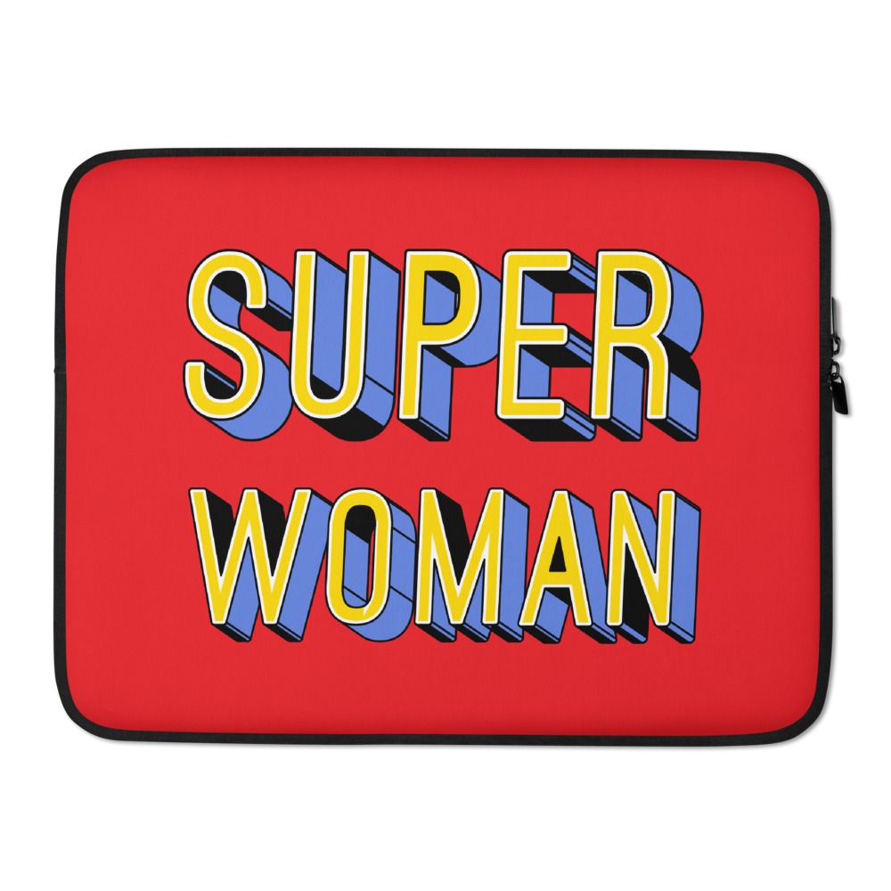 she is apparel Super Woman laptop sleeve