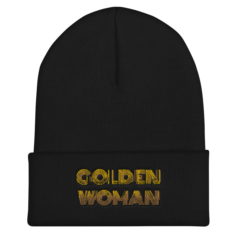 She is apparel Golden Woman beanie