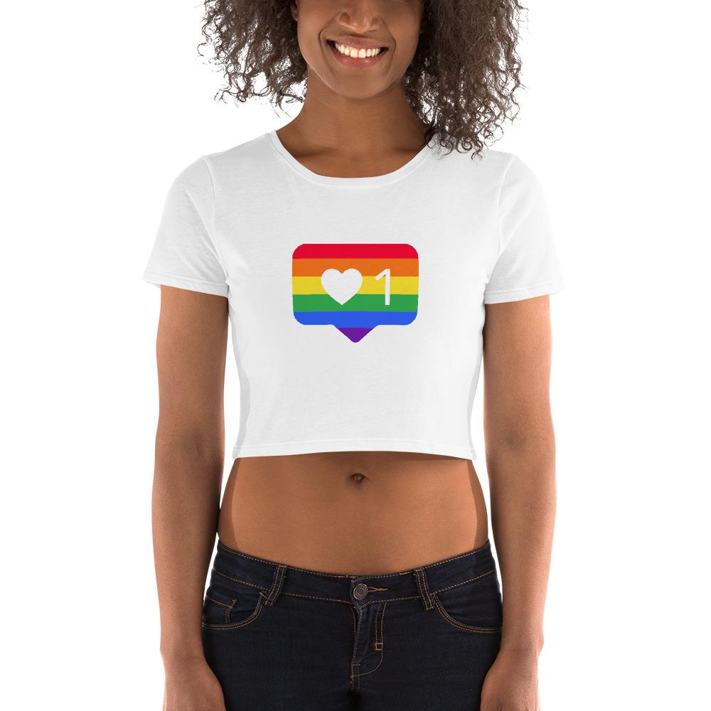 She is apparel Pride like Crop Top