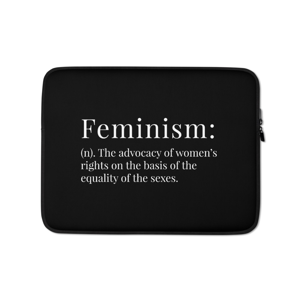 She is apparel Feminism laptop sleeve