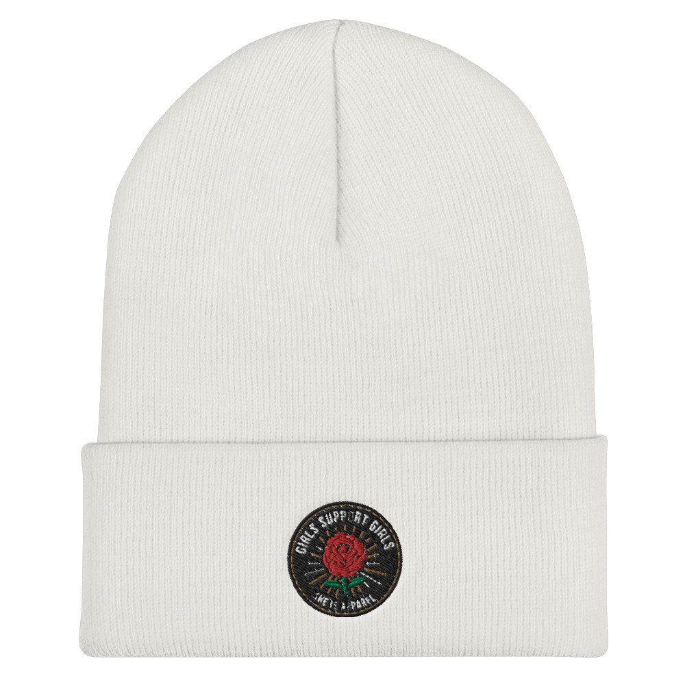 She is Apparel Rose Badge beanie
