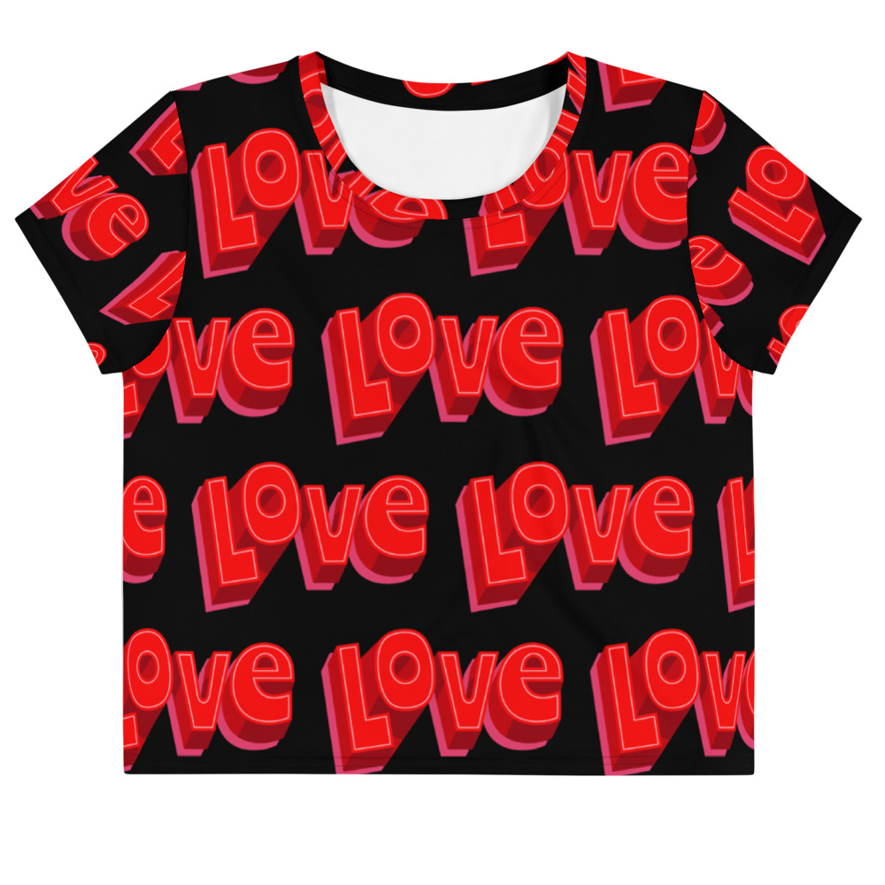 she is apparel Love crop top