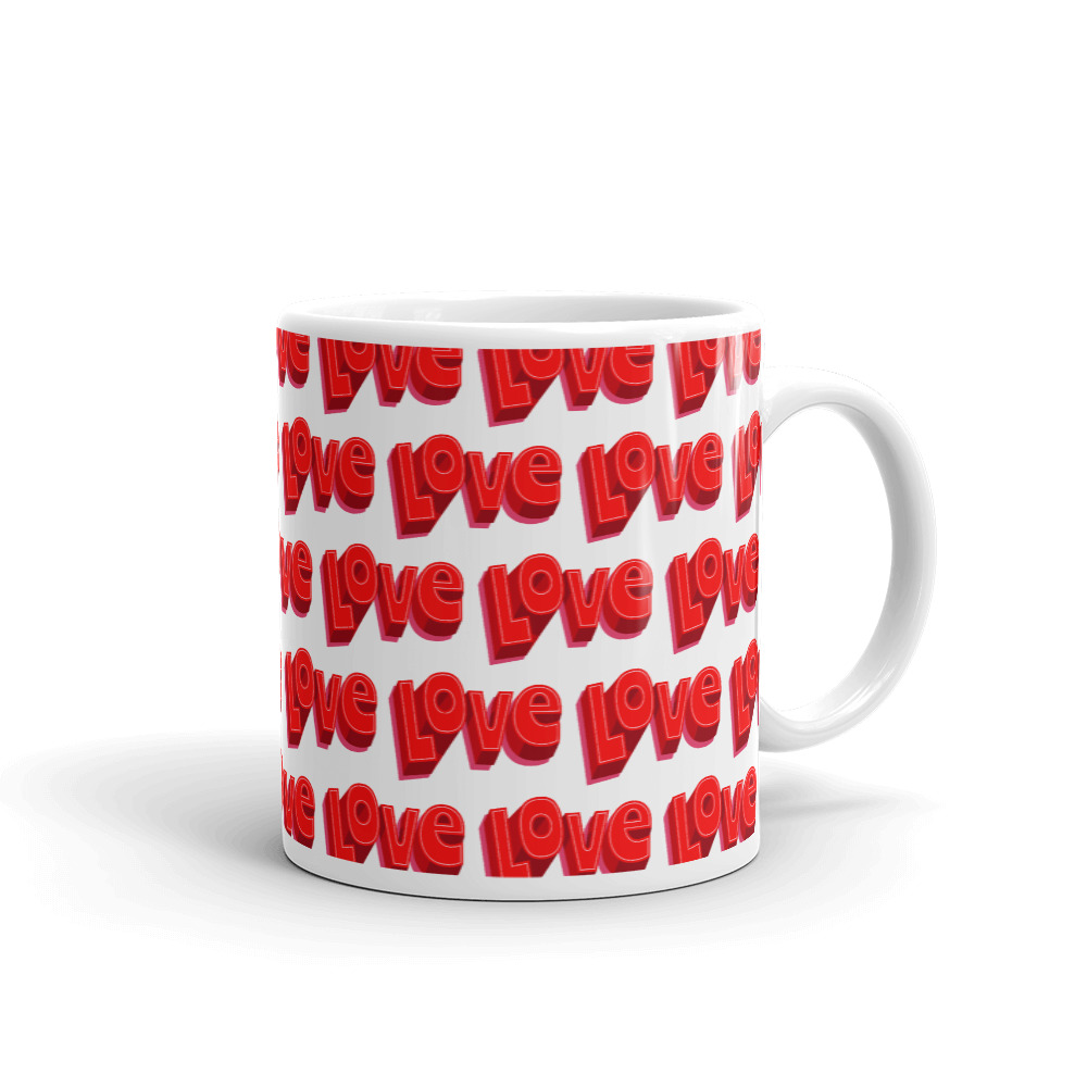 she is apparel Love mug