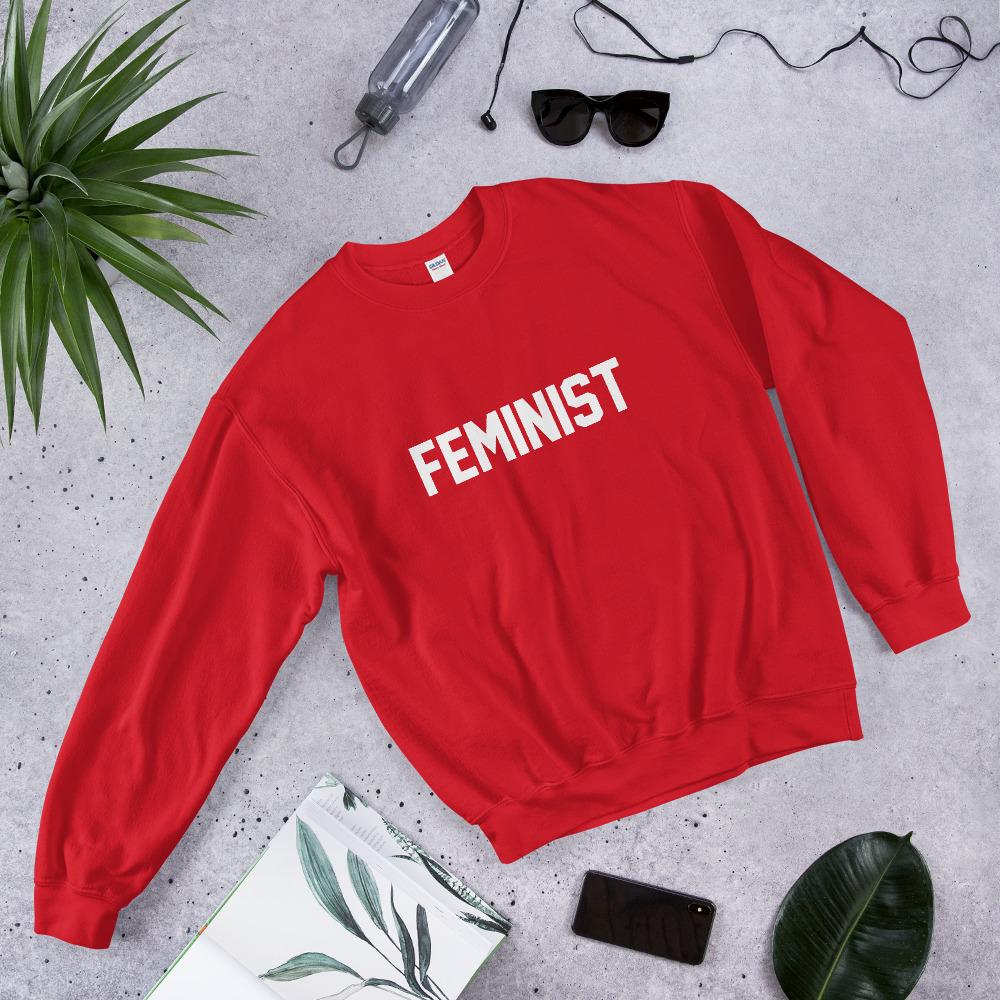 she is apparel Feminist sweatshirt