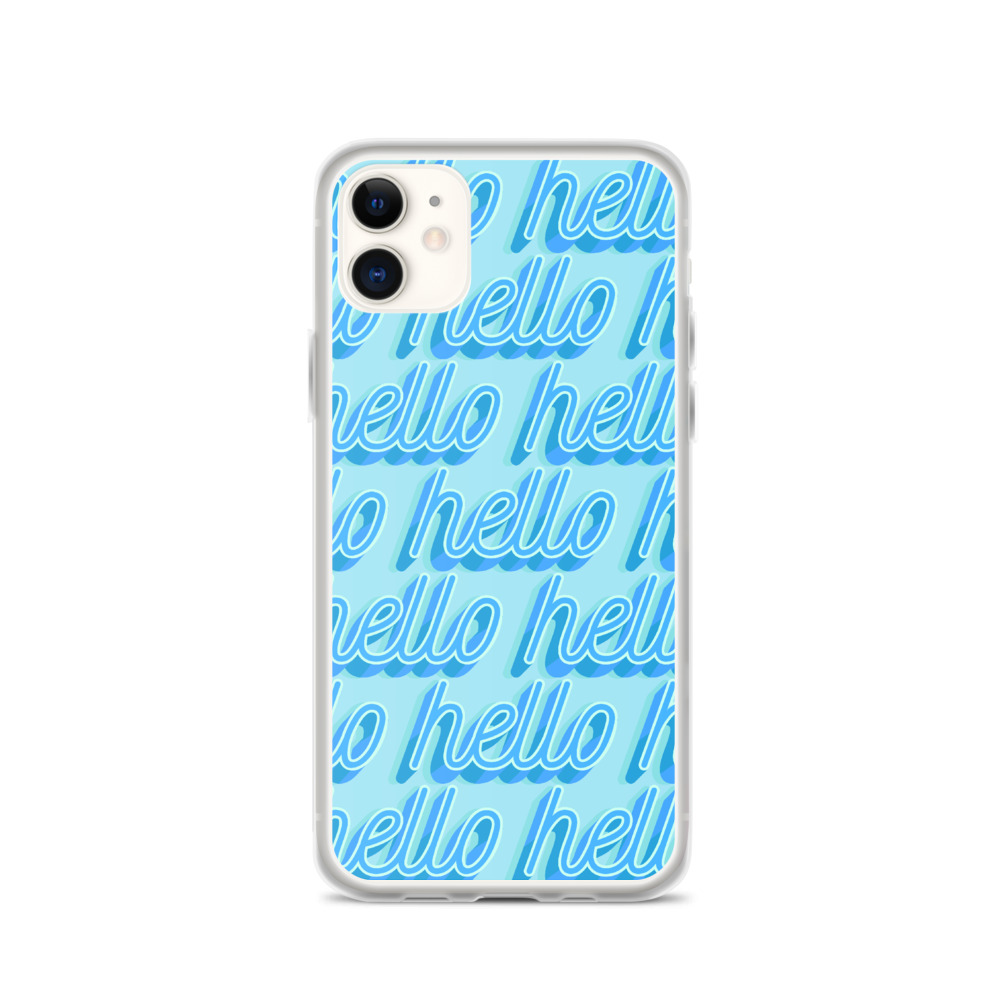 she is apparel Hello iPhone Case