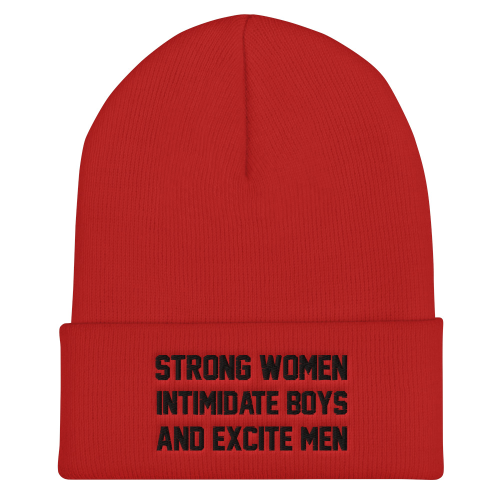 She is apparel Strong Women beanie
